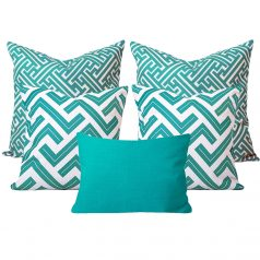 Zedd Maze Tiurquoise Cushion Set of 5