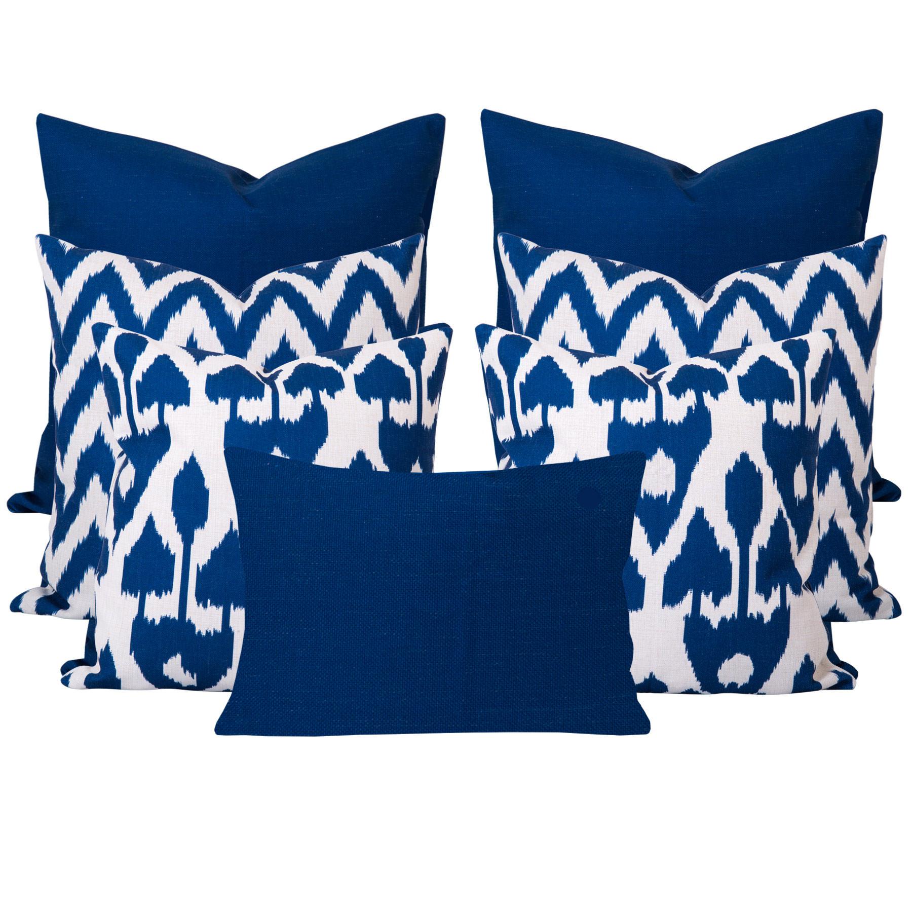 Amare-Gaia-Blue-7-Cushion-Set