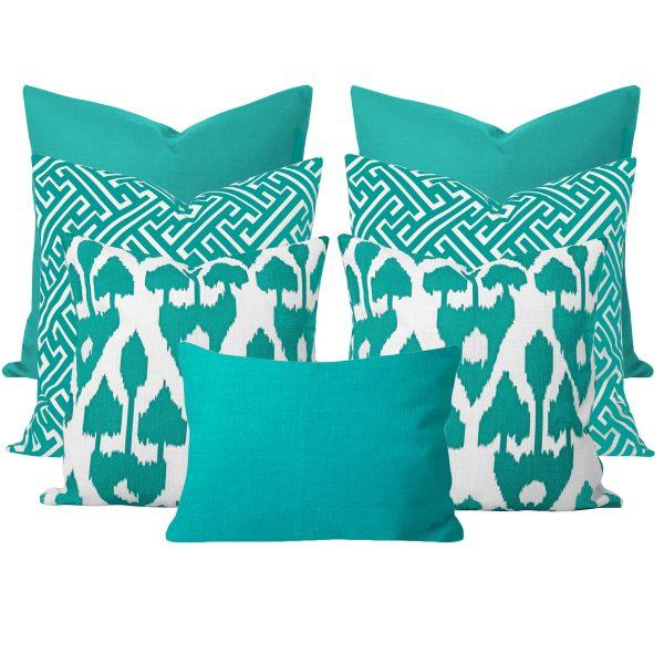 Amare Turquoise 7 Cushion Set