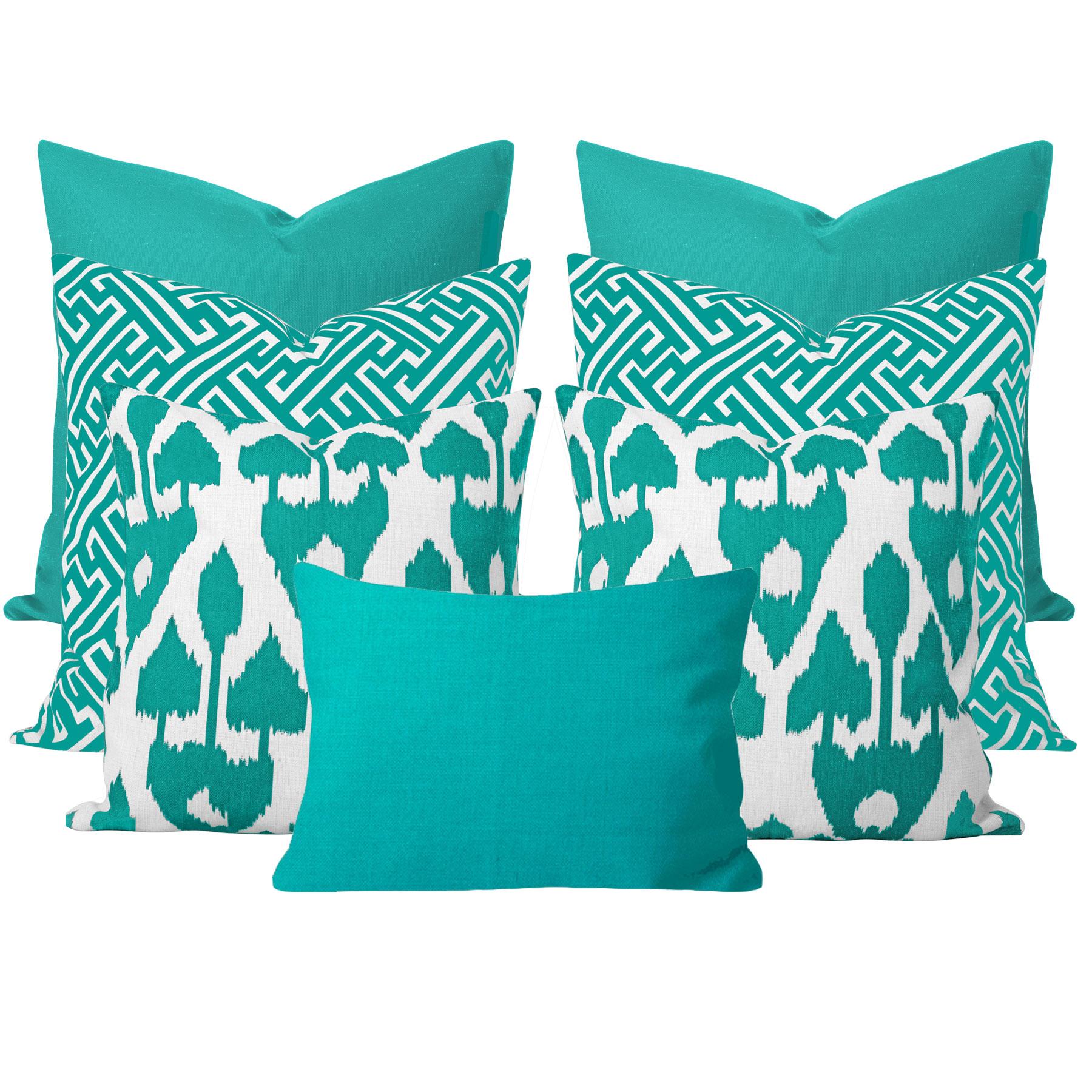 Amare-Turquoise-7-Cushion-Set