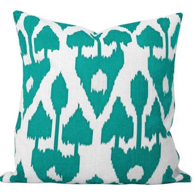Amare Turquoise Ikat Cushion