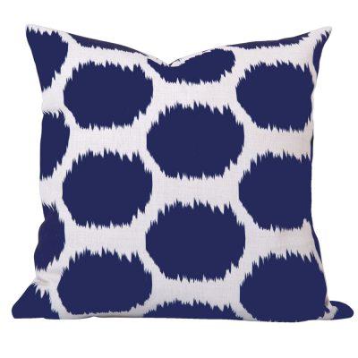 Arzu Blue Ikat Cushion