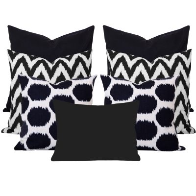 Arzu Gaia Black 7 Cushion Set