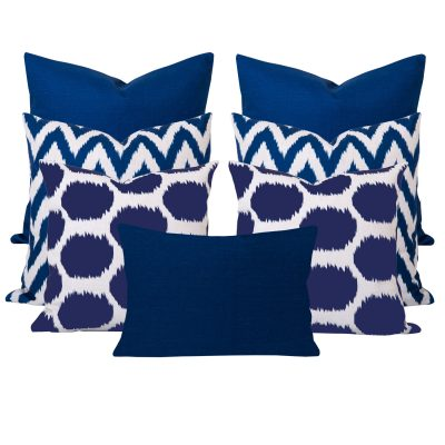 Arzu Gaia Blue 7 Cushion Sete