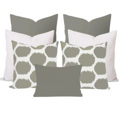 Arzu Taupe Ikat 7 Cushion Set