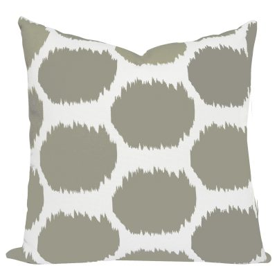 Arzu Ikat Taupe Cushion