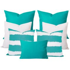 Bayou Georgia Turquise 7 Cushion Set