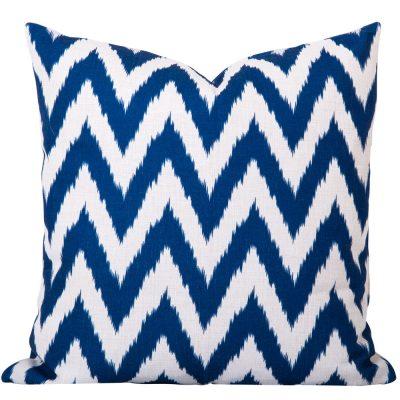 Gaia Blue Ikat Cushion
