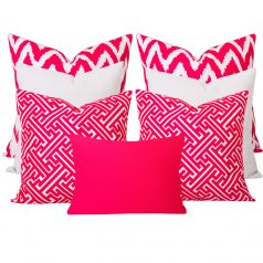 Gaia Maze Pink 7 Cushion Set