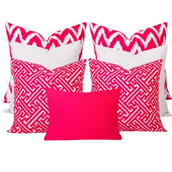 Gaia Maze Pink 7 Cushion Set