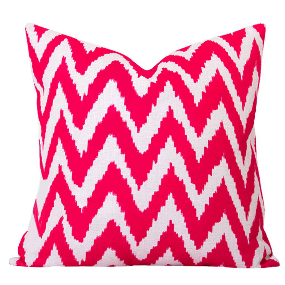 Gaia Pink Ikat Cushion