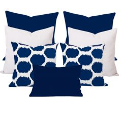 Georgia Arzu Blue 7 Cushion Set