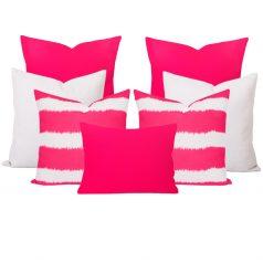 Georgia Bayou Pink 7 Cushion Set