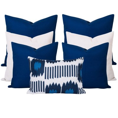 Georgia Blue 7 Cushion Set