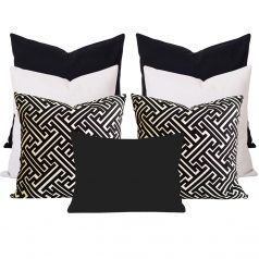Georia Maze Black 7 Cushion Set
