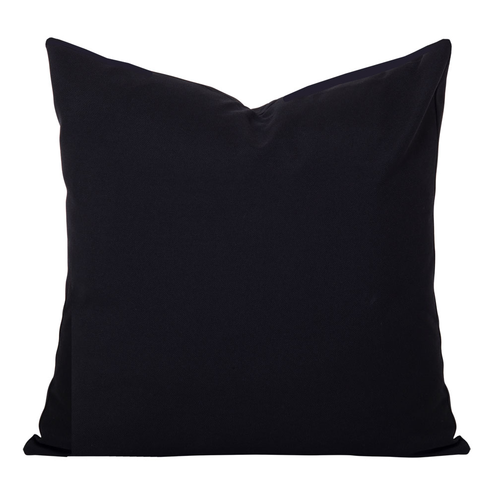 Georgia Plain Black Linen Cushion