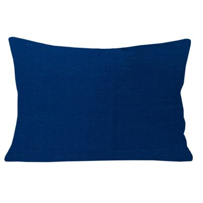 Geogia Plain Navy Rectangular Cushion