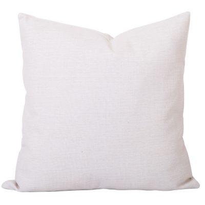 Georgia Plain white linen cushion