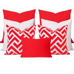 Georgia Zedd Orange 7 Cushion Set