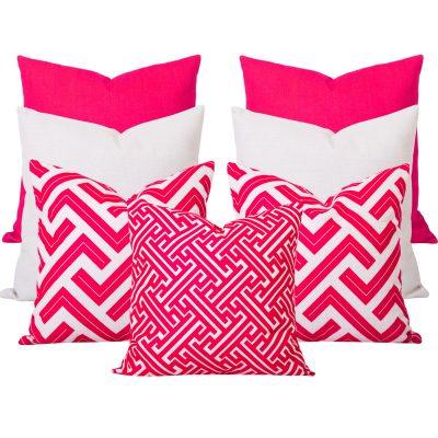Georgia Zedd Pink 7 Cushion Set