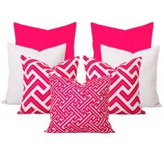 Georgia Zedd Pink Cushion Set of 7