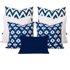Kristine Gaia Blue 7 Cushion Set