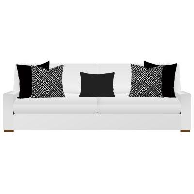 Black Cushions on White Sofa