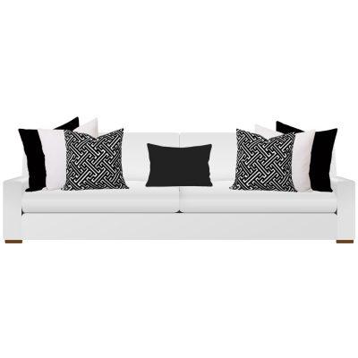 Black and White Cushions on Sofa