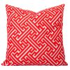 Maze-Orange-Geometric-Cushion