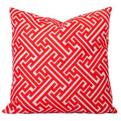 Maze-Orange-Geometric-Cushion