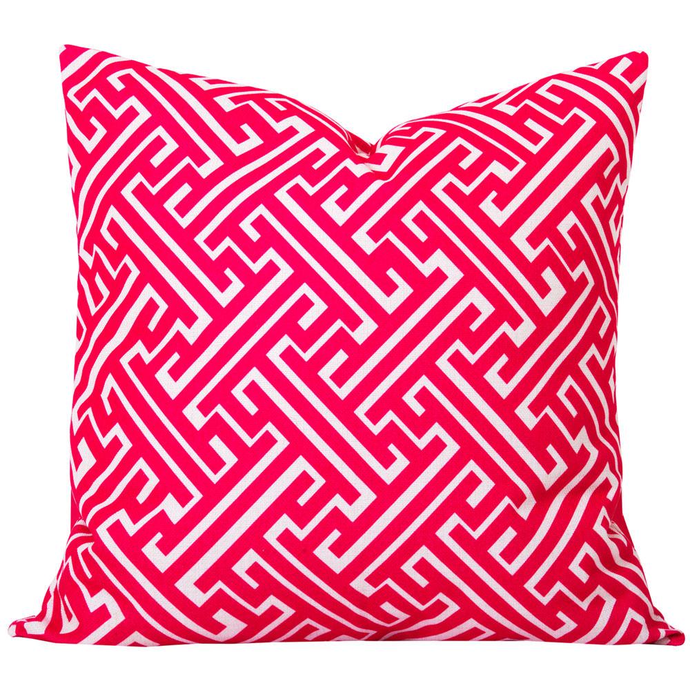 Maze Pink Geometric Cushion