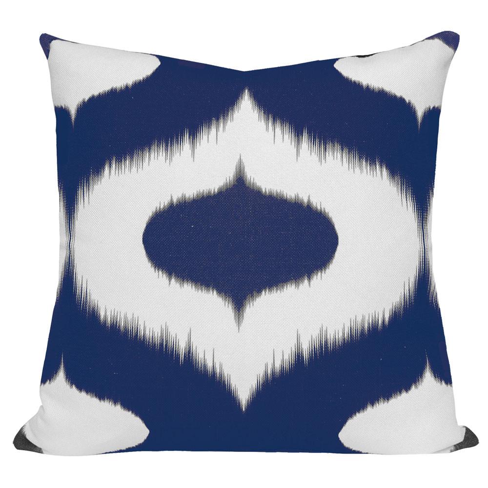 Neveen Blue Ikat Cushion