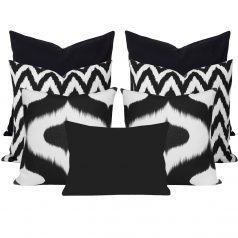 Neveen Gaia Black 7 Cushion Set