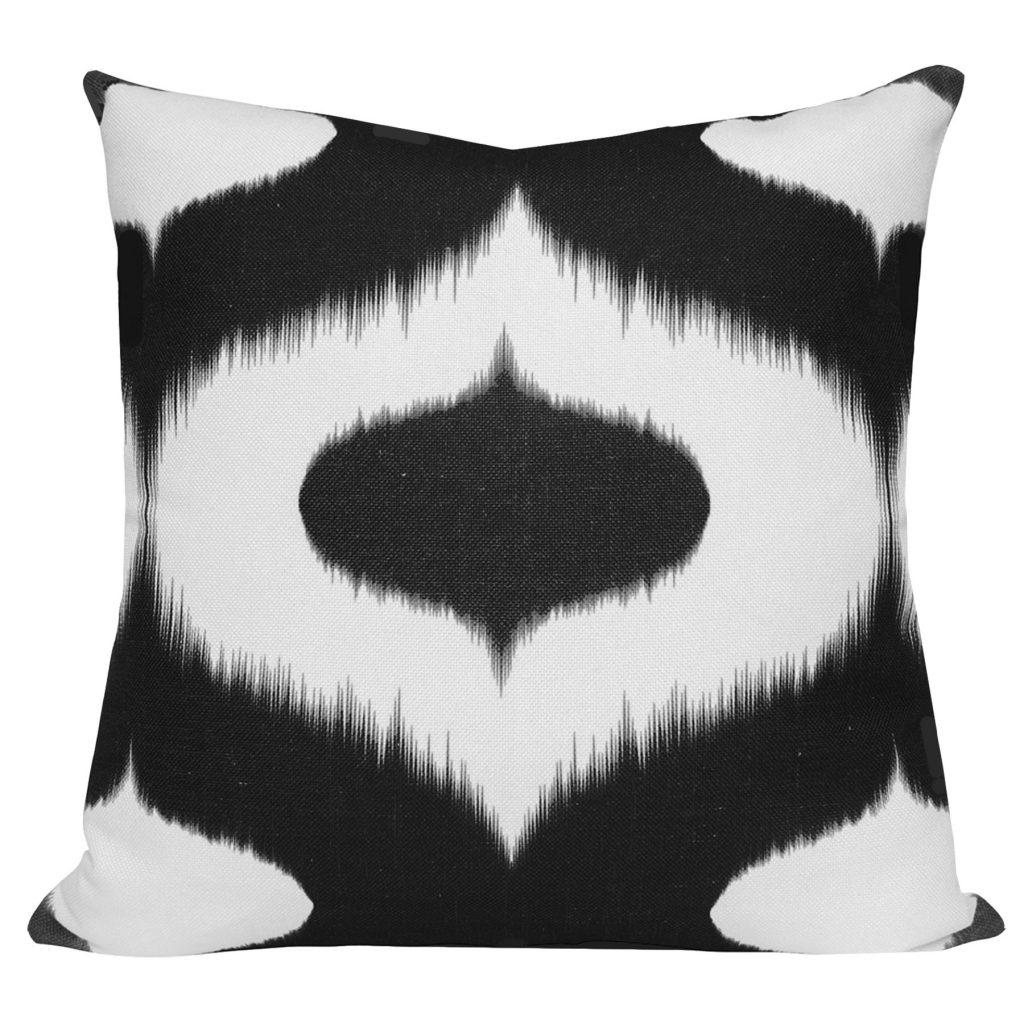 Neveen Black Ikat Cushion