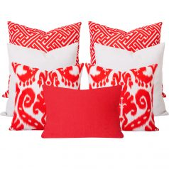 Orient Maze Orange 7 Cushion Set