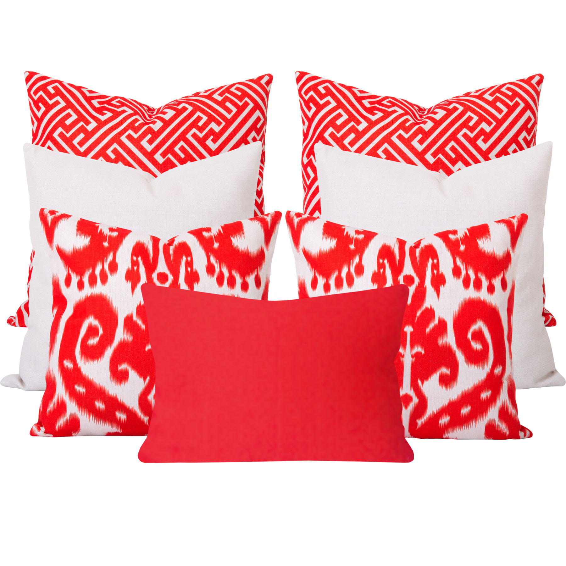 Orient-Maze-Orange-7-Cushion-Set