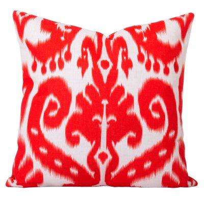 Orient Orange Ikat Cushion
