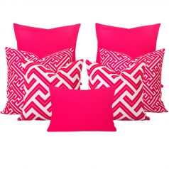 Zedd Maze Pink 7 Cushion Set