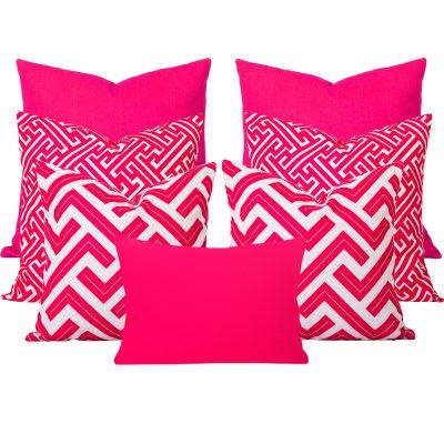 Zedd-Maze-Pink-7-Cushion-Set