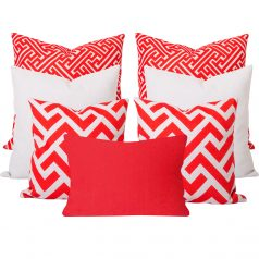 Zedd Orange 7 Cushion Set
