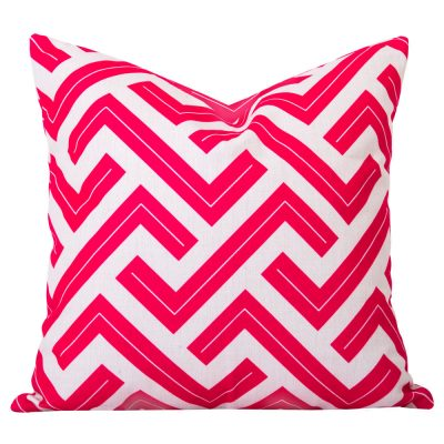 Zedd Pink Geometric Cushion