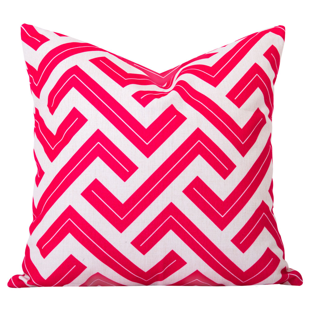 Zedd Twno Pink Geometric Cushion