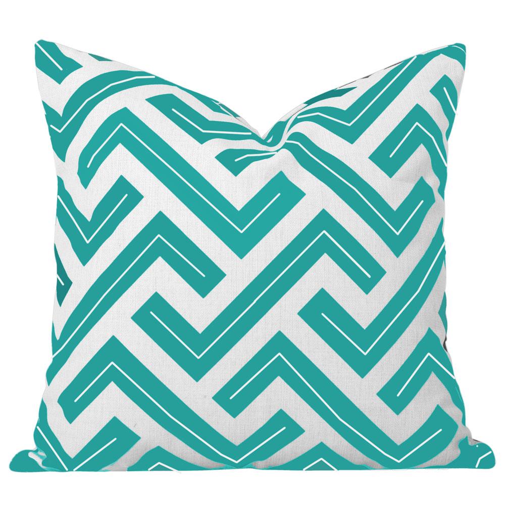 Zedd Turuoise Geometric Cushion