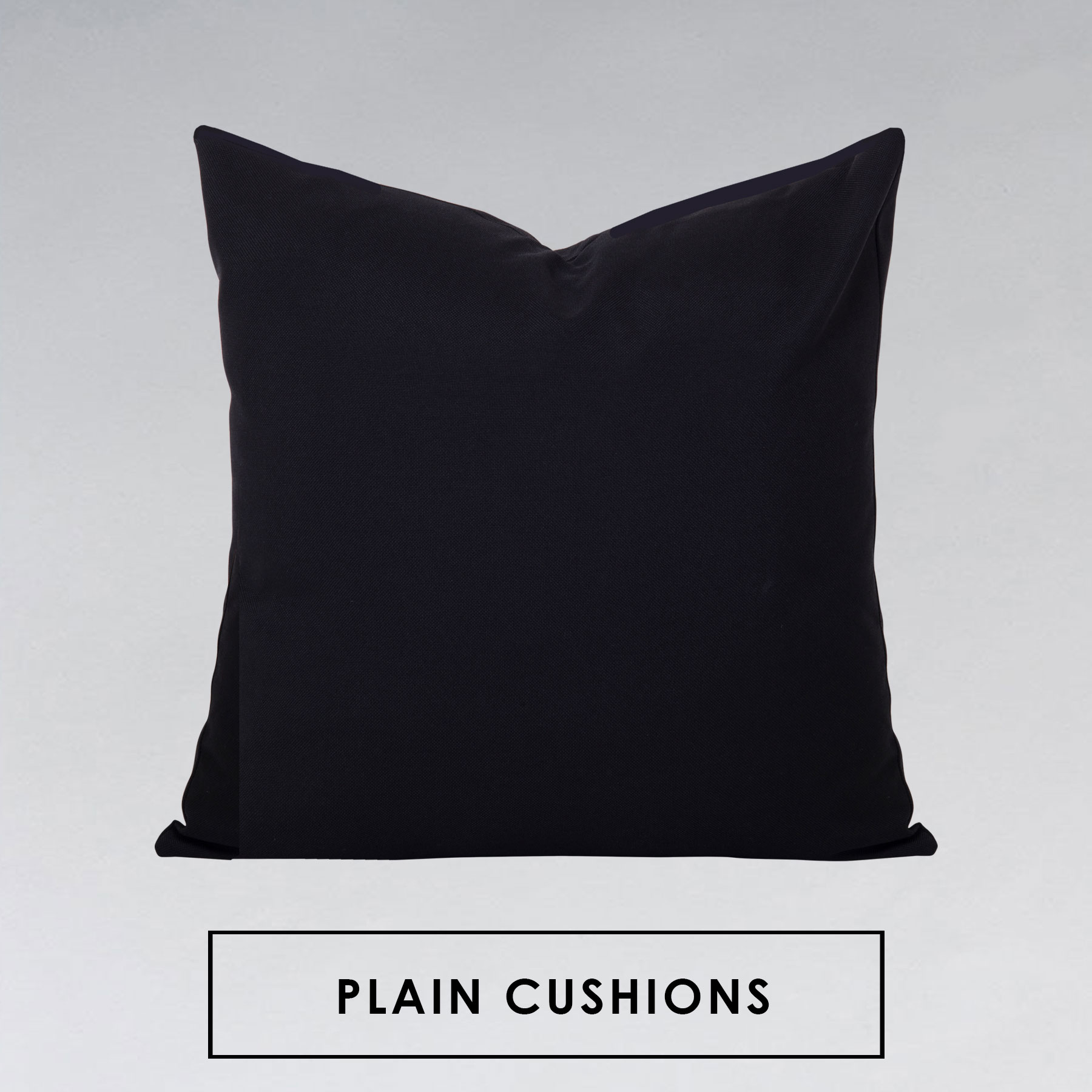 Georgia Plain Black Cushion