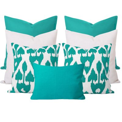 Amare Georgia Turquoise 7 Cushion Set