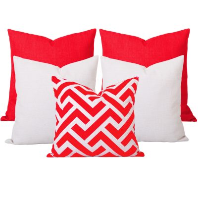 Georgia Zedd Orange 5 Cushion Set