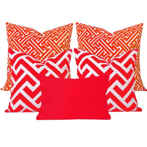Maze Zedd Orange 5 Cushion Set