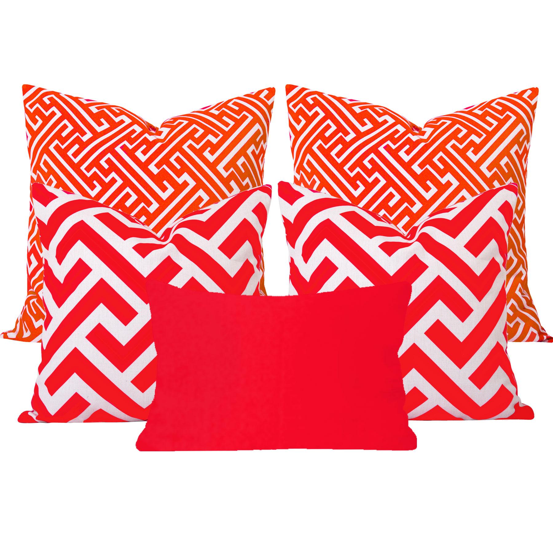 Maze-Zedd-Orange-5-Cushion-Set