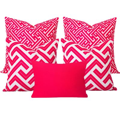 Maze Zedd Pink 5 Cushion Set