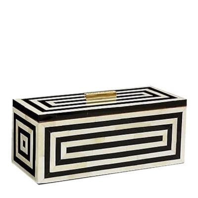Shari Bone Inlay Stripe Decorative Box